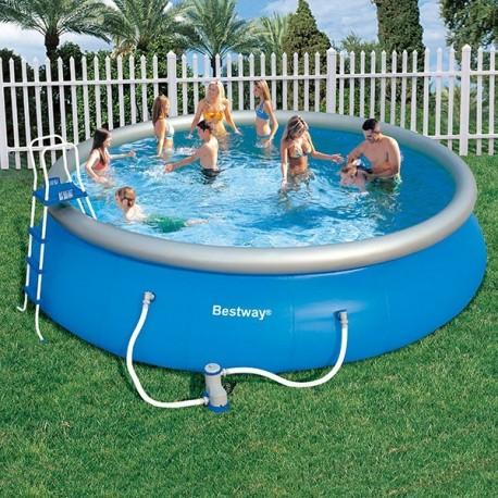 Bestway fast set 457 cm x 107 cm incl accessoires for Bestway piscine service com